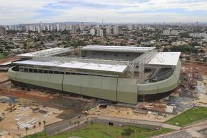 Arena Pantanal primeira quinzena de janeiro de 2014 (Foto: Edson Rodrigues/Secopa-MT)
