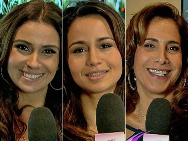 Montagem Giovanna Antonelli, Nanda Costa e Totia Meirelles (Foto: TV Globo / Alex Carvalho)
