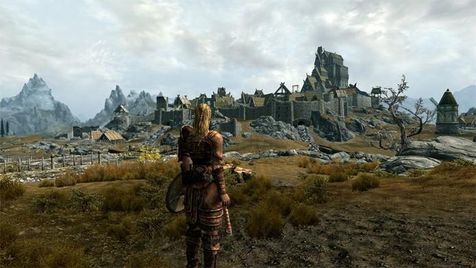 Skyrim é um grande jogo. Menos no PS3 (Foto: Divulgação/Bethesda)