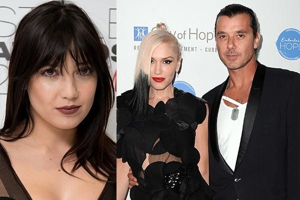 Daisy Lowe, Gavin Rossdale e Gwen Stefani (Foto: Getty Images)
