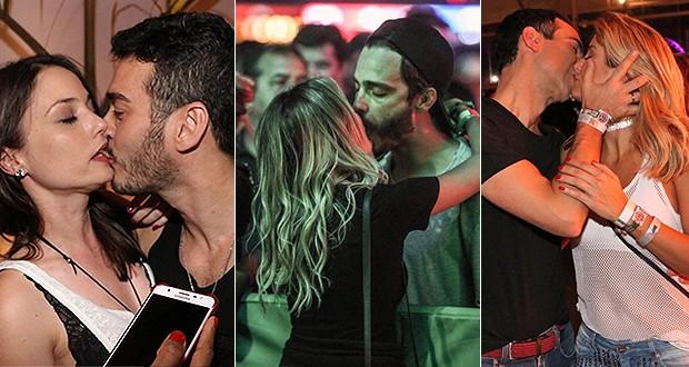 Famosos beijam muito no 5º dia de Rock in Rio (Foto: Ed. Globo)