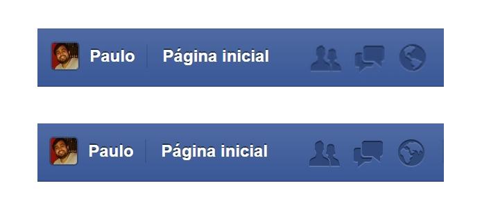 Acima, ícone visto no Brasil; abaixo, ícone visto no Japão (Foto: Reprodução/Paulo Alves)