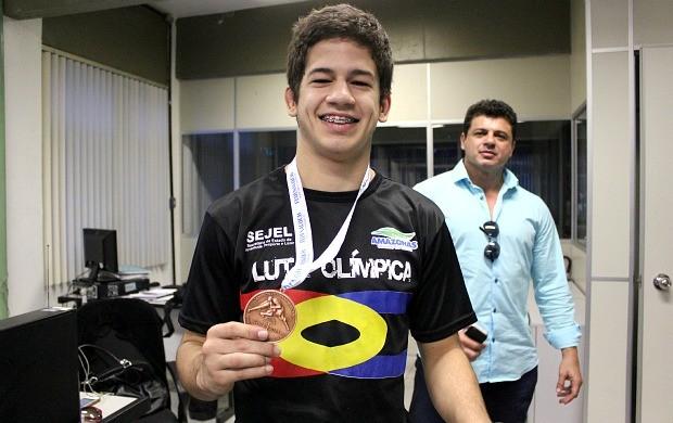 Rodrigo Falabella luta olímpica Manaus (Foto: Isabella Pina)