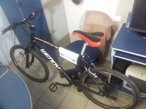 Bicicleta que foi furtada do personal trainer (Foto: Antonio Marcos / G1 Santos)