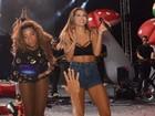 Alinne Rosa e MC Ludmilla usam figurinos sensuais em show