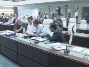 Apenas dois vereadores foram contra o projeto (Foto: Reprodução/TV Tribuna)