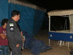 Gildemar Rocha foi assassinado com três tiros na cabeça em Mossoró (Foto: Marcelino Neto/G1)