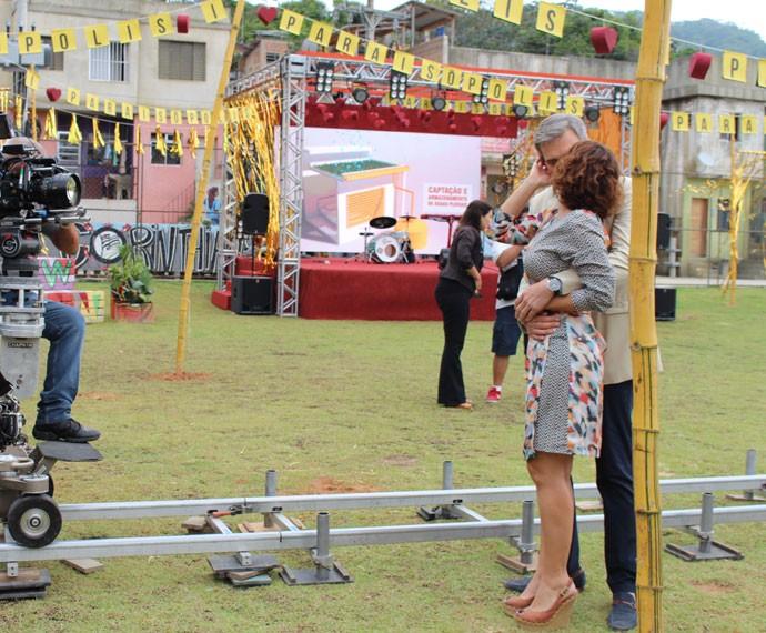 Dalton Vigh e Fabiula Nascimento gravam cenas finais dos seus personagens (Foto: Karen Fideles/Gshow)