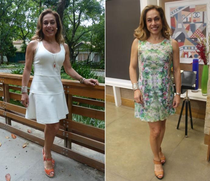 Os curtinhos também estão entre os preferidos de Cissa para comandar o É de Casa. A apresentadora já usou alguns modelos de vestido liso e com estampa floral (Foto: Letícia Souza/Gshow)