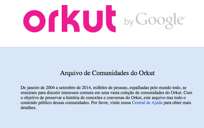Arquivo de Comunidades do Orkut (Foto: Reprodução/Google)