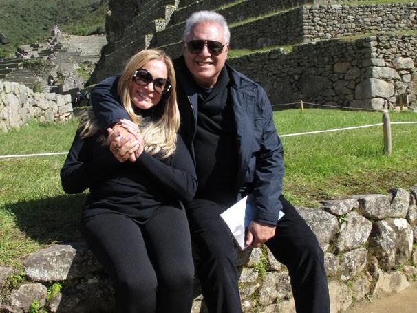 Antônio Fagundes e Susana Vieira em Macchu Pichu (Foto: Estevam Avellar/TV Globo)