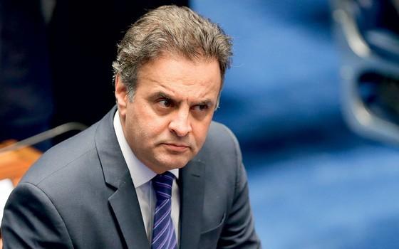 O senador  Aécio Neves (Foto:  Alan Marques/Folhapress)
