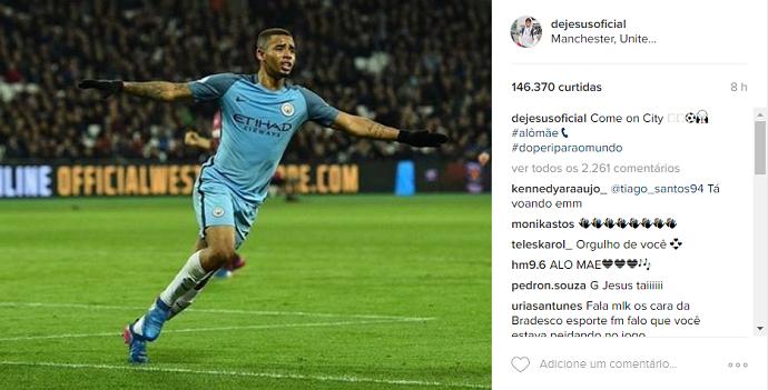 Gabriel Jesus Manchester City instagram