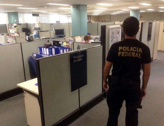 Agente da Polícia Federal durante operação Greenfield  (Foto:  PF)