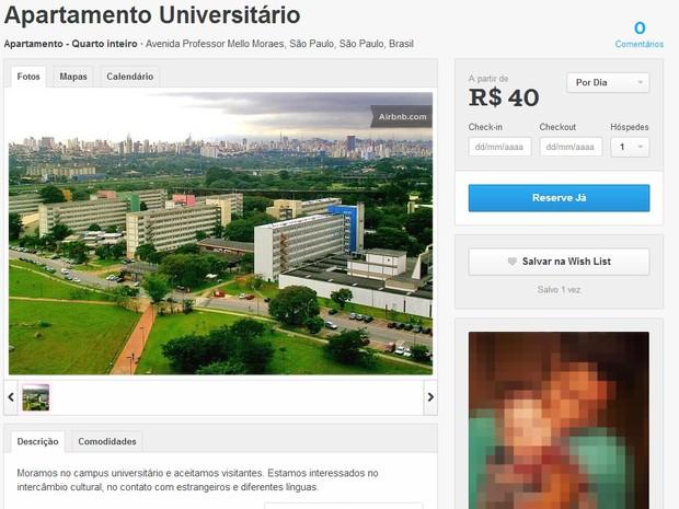 USP investiga anúncio de aluguel de apartamento da Cidade Universitária