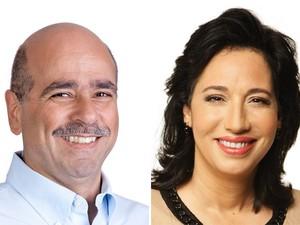 Candidatos a prefeito no segundo turno em Guarujá, SP (Foto: Arte/G1)
