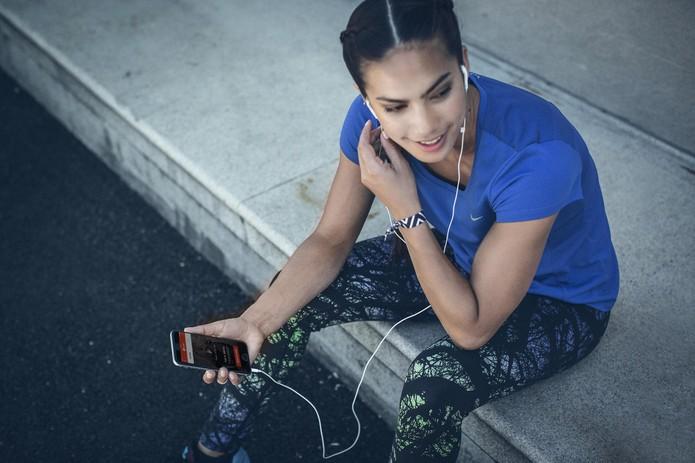 Playlists personalizadas geradas com o ritmo e preferências dos usuários (Foto: Divulgação/Nike)