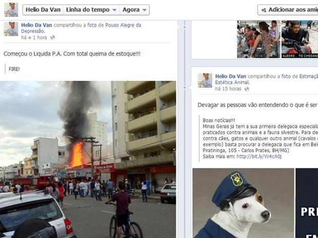 Vereador faz piada com incêndio em Pouso Alegre. (Foto: Reprodução internet)