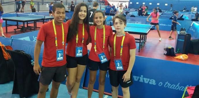 Equipe sergipana de tênis de mesa nos Jogos Escolares da Juventude (Foto: Reprodução / Facebook)