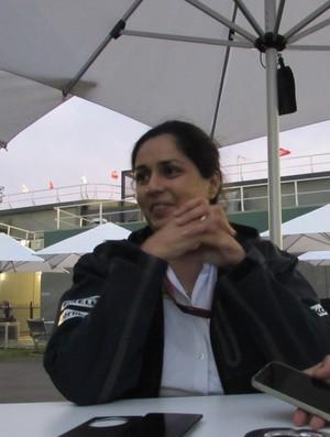 Monisha Kaltenborn - treino classificatório GP da Austrália Sauber