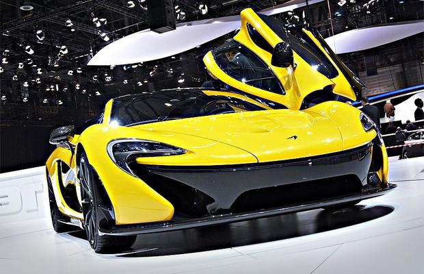 McLaren P1 no Salão de Genebra (Foto: Newspress)