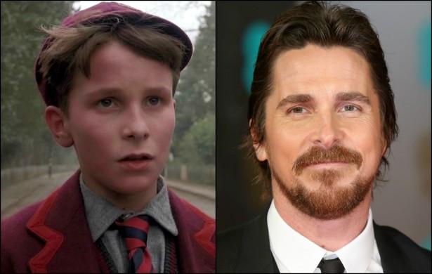 """Já o quarentão Christian Bale """"evoluiu"""" bem desde seu trabalho em 'Império do Sol' (1987), que ele gravou quando tinha só 12 anos. (Foto: Reprodução e Getty Images)"""