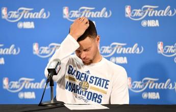 """Curry ainda remói jogo 7, mas vê lado positivo: """"Motivação para voltar forte"""""""