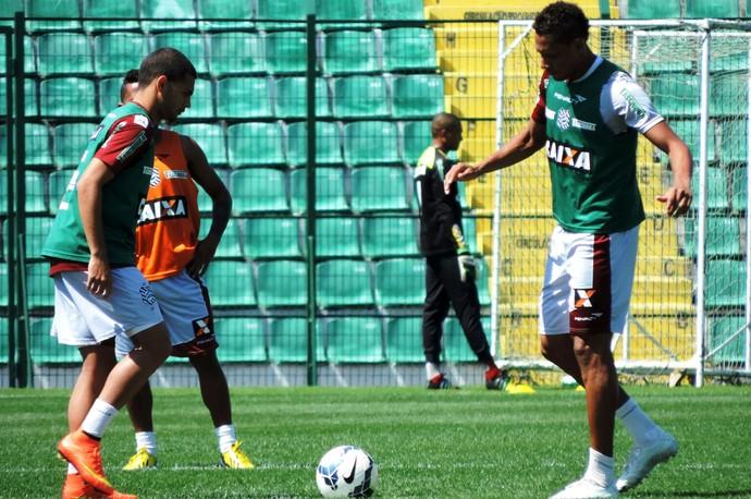 Clayton e Marcão Figueirense (Foto: Renan Koerich)