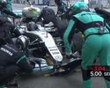 Cronômetro manual faz Nico perder tempo ao cumprir punição nos boxes