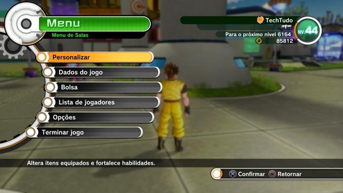 Dragon Ball Xenoverse: aprenda a melhorar os atributos e habilidades do seu guerreiro (Foto: Reprodução/Murilo Molina)