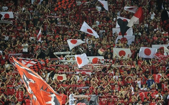 A torcida do Urawa Reds. O time é o mais rico do Japão (Foto: Getty Images)