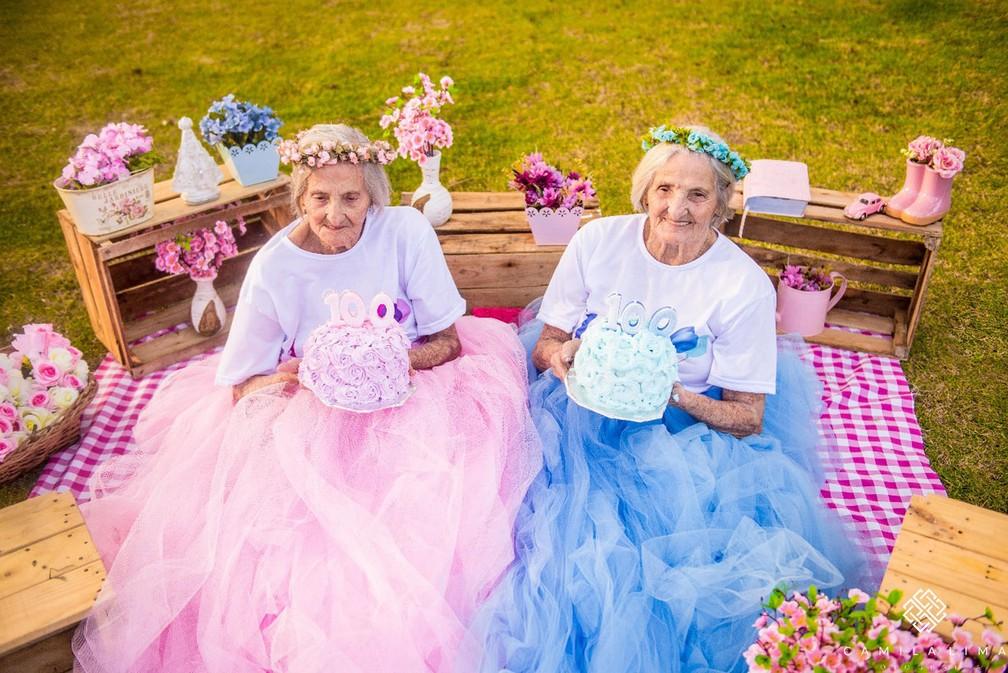 Maria e Paulina fizeram ensaio fotográfico em Vitória (Foto: Camila Lima Fotografia )