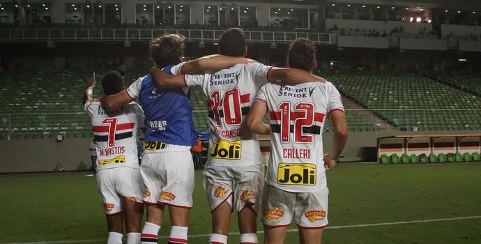 Jogadores São Paulo Independência (Foto: Rubens Chiri/saopaulofc.net)