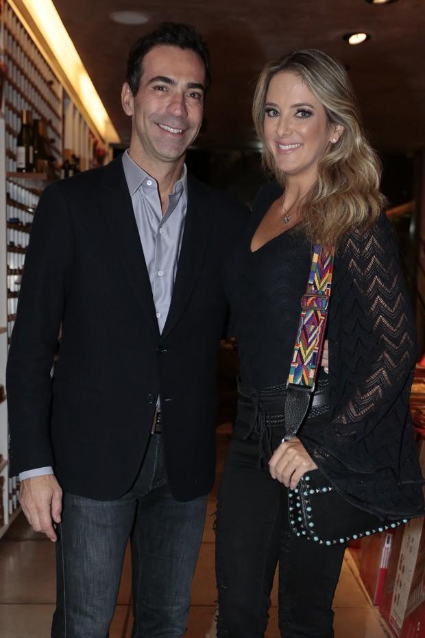 Ticiane Pinheiro e César Tralli (Foto: Rafael Cusato/Brazil News)
