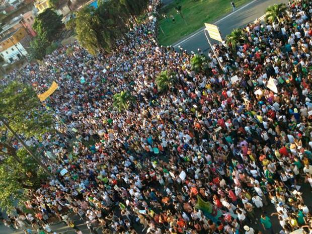 Protesto em Salvador, na Bahia, dia 20 (Foto: Silvia Resende\Arquivo Pessoal)