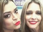 Preta Gil faz biquinho em selfie com Fernanda Lima
