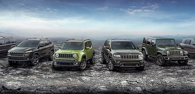 Jeep comemora 75 anos com edição especial para toda a linha (Foto: FCA)