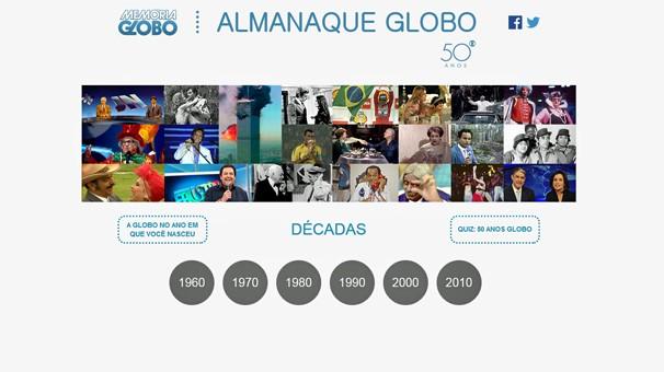 Rede globo novidades globo 50 anos site mem ria globo - Globos 50 anos ...
