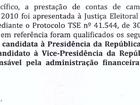 Mendes diz à PF que Dilma, Temer e Filippi respondiam por contas de 2010