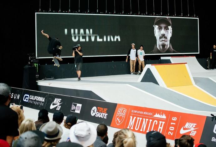 Luan Oliveira vai bem, mas fica em segundo na SLS em Munique (Foto: Street League Skateboarding)