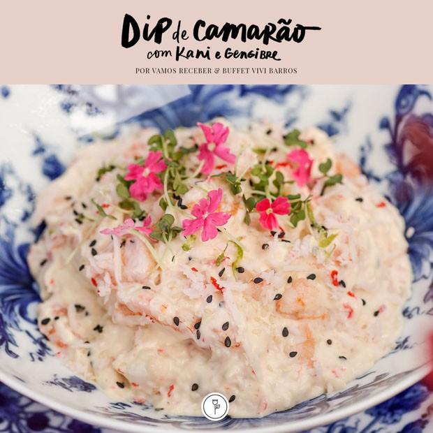 Vamos receber: receita de dip de camarão com kani e gengibre (Foto: Julio Acevedo)