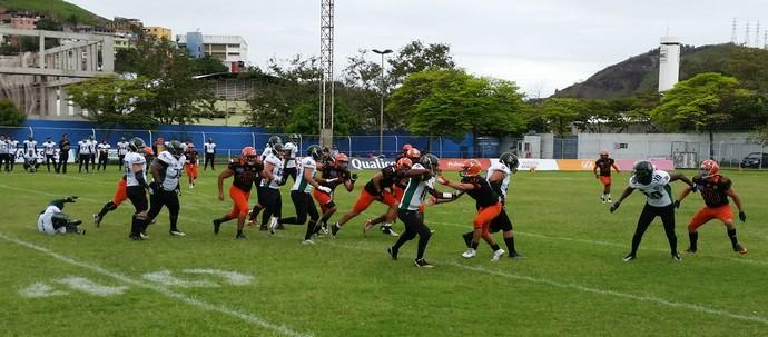 Torneio Touchdown 2014: Vila Velha Tritões x Botafogo Reptiles (Foto: Sidney Magno Novo/GloboEsporte.com)
