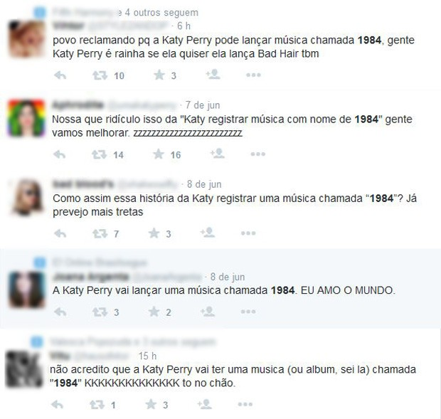 Internautas comentam registro de nova música de Katy Perry (Foto: Reprodução / Twitter)