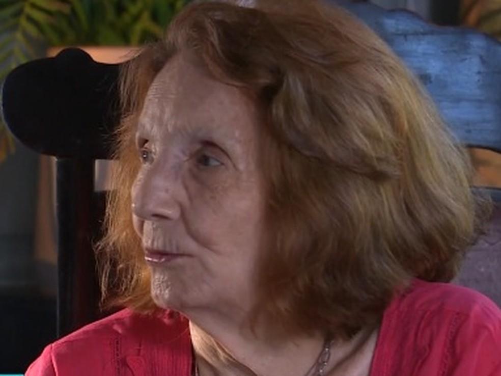 Zélia Suassuna, companheira de Ariano, fala sobre os motivos que fizeram o escritor adiar o lançamento (Foto: Reprodução/TV Globo)