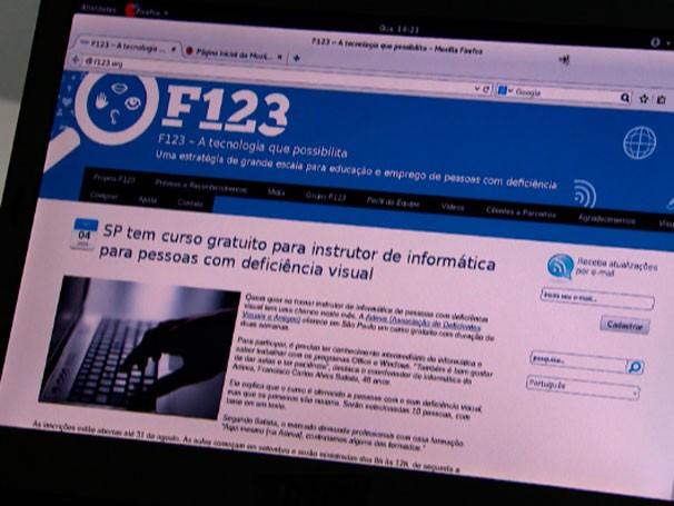 Software para deficientes visuais F123 (Foto: Reprodução)