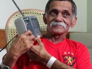 Zé do Rádio, torcedor-símbolo do Sport (Foto: Terni Castro/Globoesporte.com)