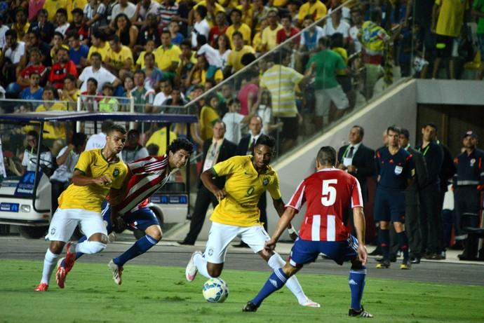 Amistoso 2015: Brasil x Paraguai (Foto: Fernando Madeira/A Gazeta)