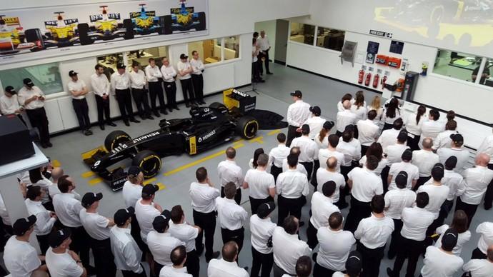 Fábrica Renault engenheiros F1 2016 (Foto: Reprodução/ Twitter)