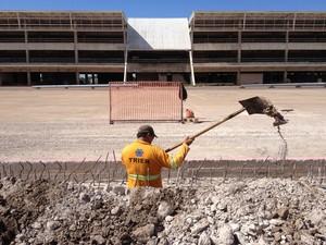 Partes das obras do aeroporto estão em fase de conclusão (Foto: Thaís Pucci/G1)
