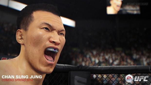 Vindo de uma derrota para o campeão José Aldo, Chan Sung Jung também foi confirmado no novo game do UFC (Foto: Divulgação/EA Sports)